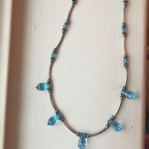 Jewelry - Sterling Silver Blue Topaz Necklace